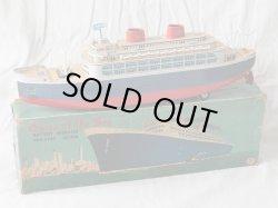 画像1: 【バーゲン】【動画有り】【ブリキ玩具史上の最大級】豪華客船 Queen of the Sea 1950年代製 箱付き(増田屋・日本)
