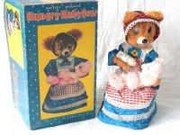 【バーゲン】【動画有り】ミルクを飲ませ赤ちゃんクマをあやすお母さんクマ 1960年代 米澤 日本製