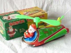 画像1: 【バーゲン】【動画有り】サンタヘリコプター 1960年代 増田屋 日本製