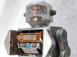 """画像1: 【バーゲン】【動画有り】【希少銀色】""""ブリキのロボット宇宙飛行士""""""""名作:マシンガンタイプ""""ニュー スペース エクスプローラー 1960年代製造(ホリカワ・日本)"""