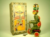 【動画有り】三輪車に乗り曲芸する象 1940年代製オリジナル(US ZONE・ドイツ)【箱付き】