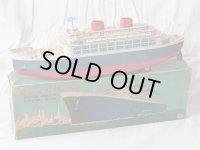 【バーゲン】【動画有り】【ブリキ玩具史上の最大級】豪華客船 Queen of the Sea 1950年代製 箱付き(増田屋・日本)