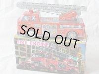 【バーゲン】【可動品】消防 はしご車 1960年代 AMICI 日本製 【箱入り】