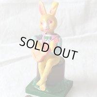 【動画有り】(仮題)ウサギのギタリストMADE IN OCCUPIED JAPAN (占領下日本製)1947〜1952年製造