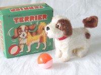 【バーゲン】【動画有り】ゼンマイ仕掛けのテリア犬 1960年代 アルプス 日本製