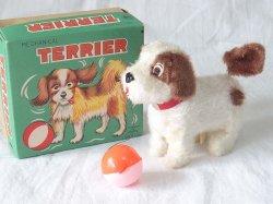 画像1: 【バーゲン】【動画有り】ゼンマイ仕掛けのテリア犬 1960年代 アルプス 日本製