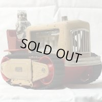【バーゲン】【希少色】【動画有り】 ロボット トラクター1950年代 昭和製造 日本製(ベージュ色)