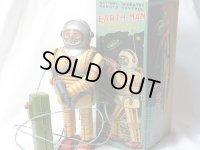 【バーゲン】【希少】【動画有り】アースマン ロボット 1950年代製 オリジナル箱付き(野村トーイ・日本)