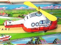 """画像2: 【バーゲン】【動画有り】ドリームランド エアポート """"ゼンマイで飛行機がコトコト滑走!""""1960年代 トープレ 日本製 箱付き"""