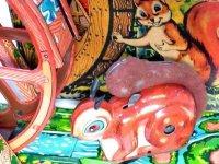 【バーゲン】【動画有り】【希少】【当店初入荷】水路を走り水車を回す ブリキのリス おもちゃ アンティーク玩具 1950年代 日本(株)光球商会製【箱付き】