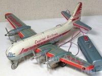 【バーゲン】【原物動画有り】≪希少≫Capital Airlines(Boeing 377 Stratocruiser)リモコン飛行機  1950年代 LINE MAR TOYS(日本)製